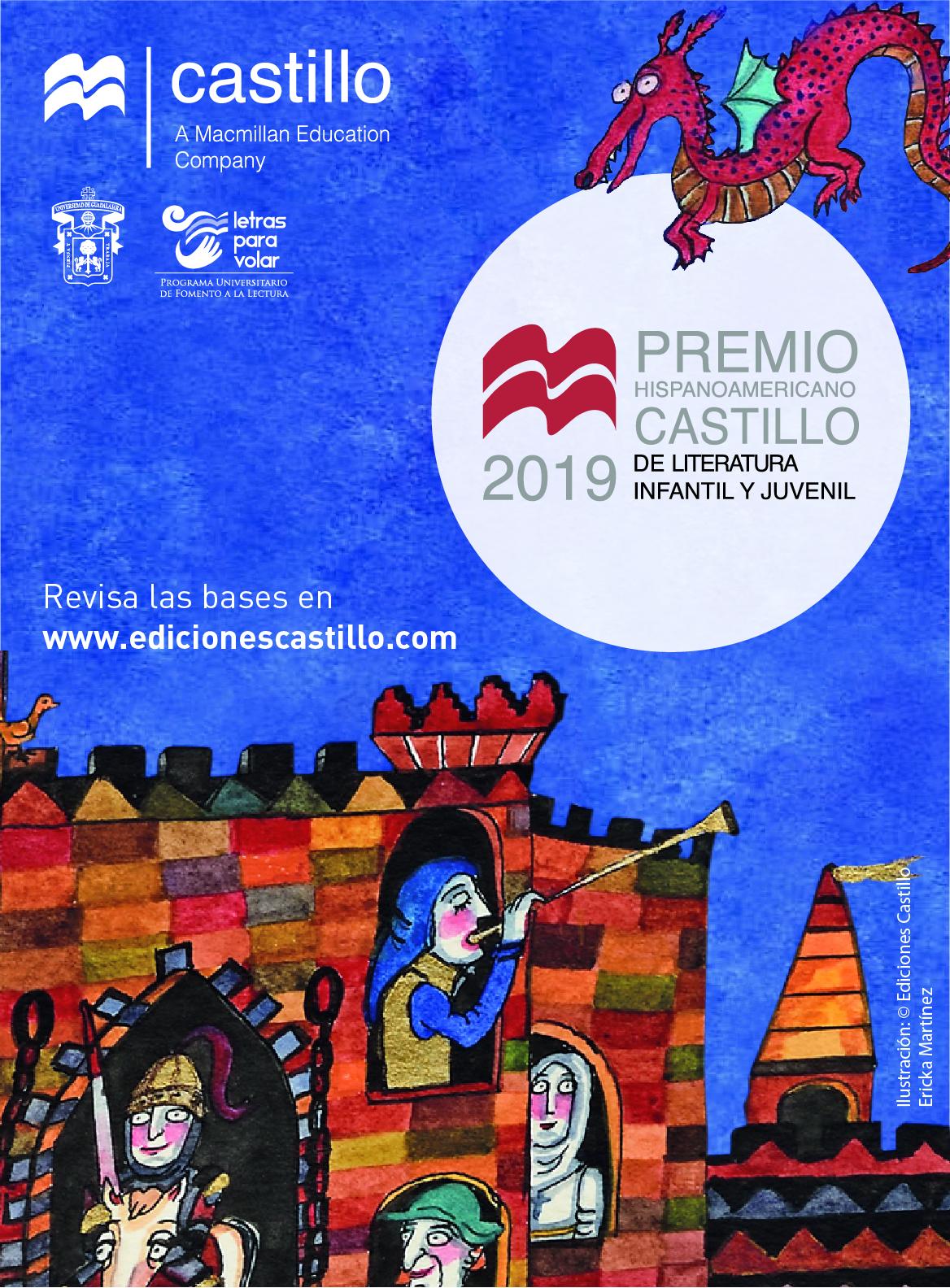 Premio Hispanoamericano Castillo de Literatura Infantil y Juvenil 2019. Categorías: Literatura infantil y Literatura juvenil