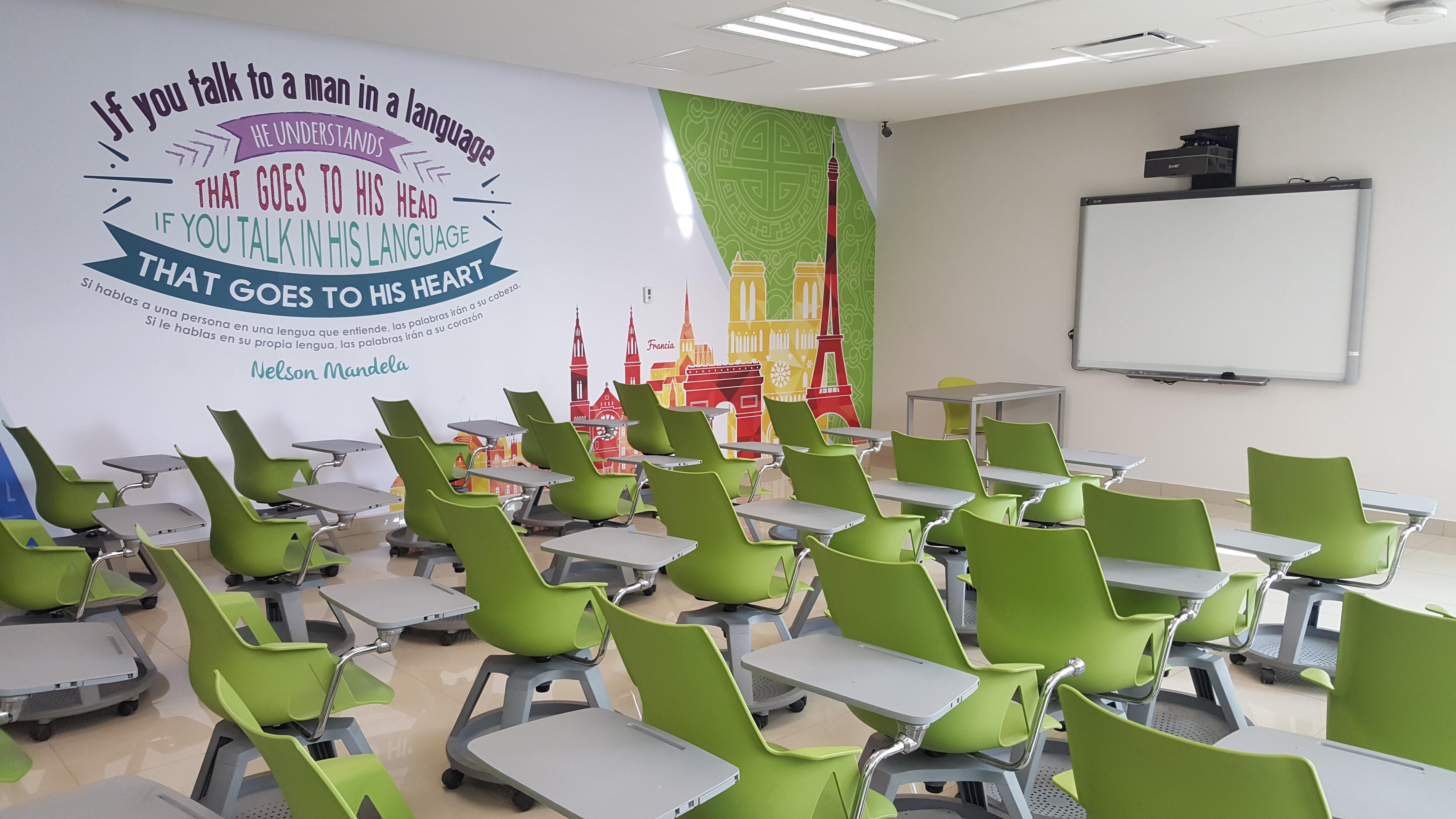 Aula del centro global de idiomas