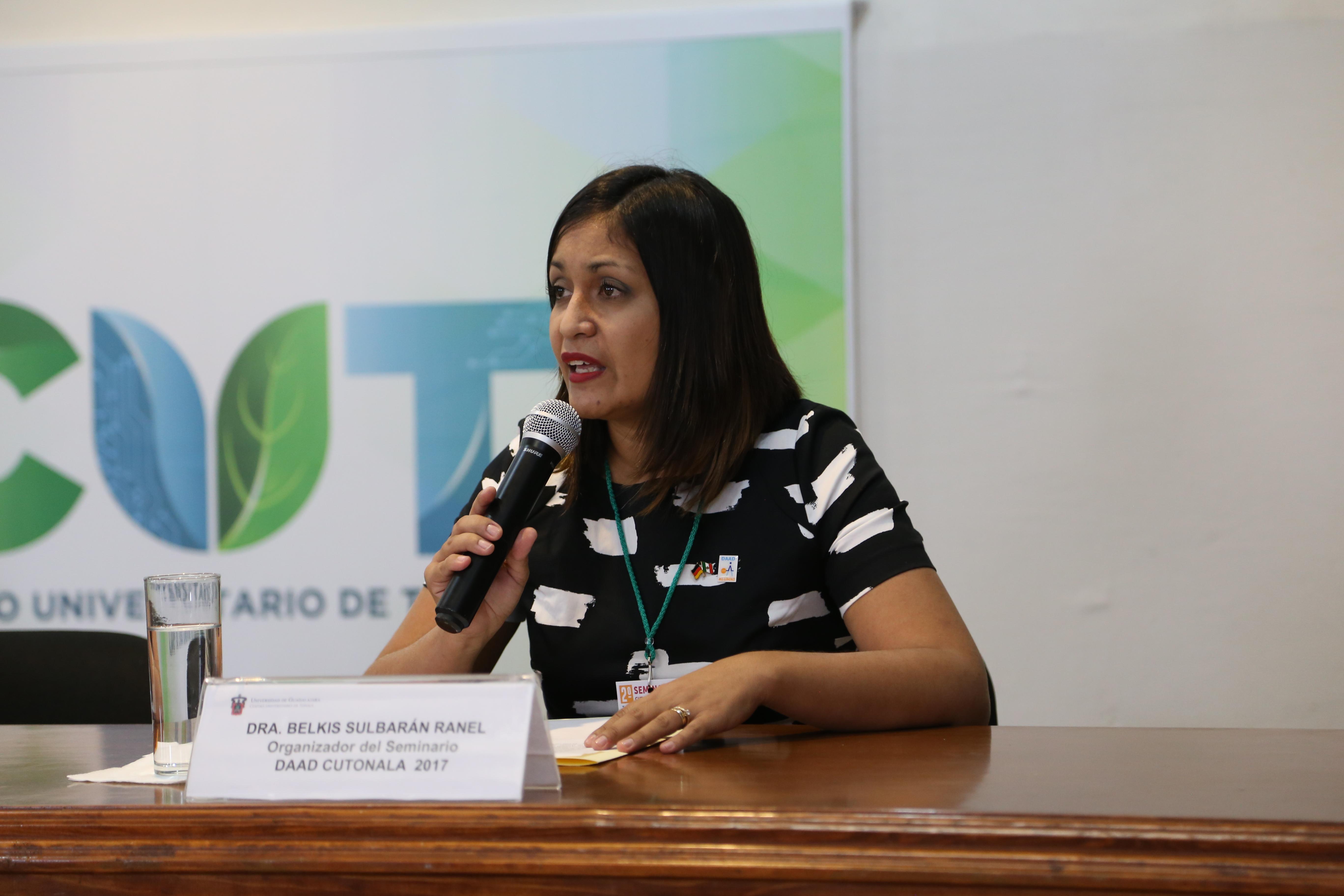 Foto de la Dra. Belkis Sulbarán Rangel, organizadora del Seminario DAAD