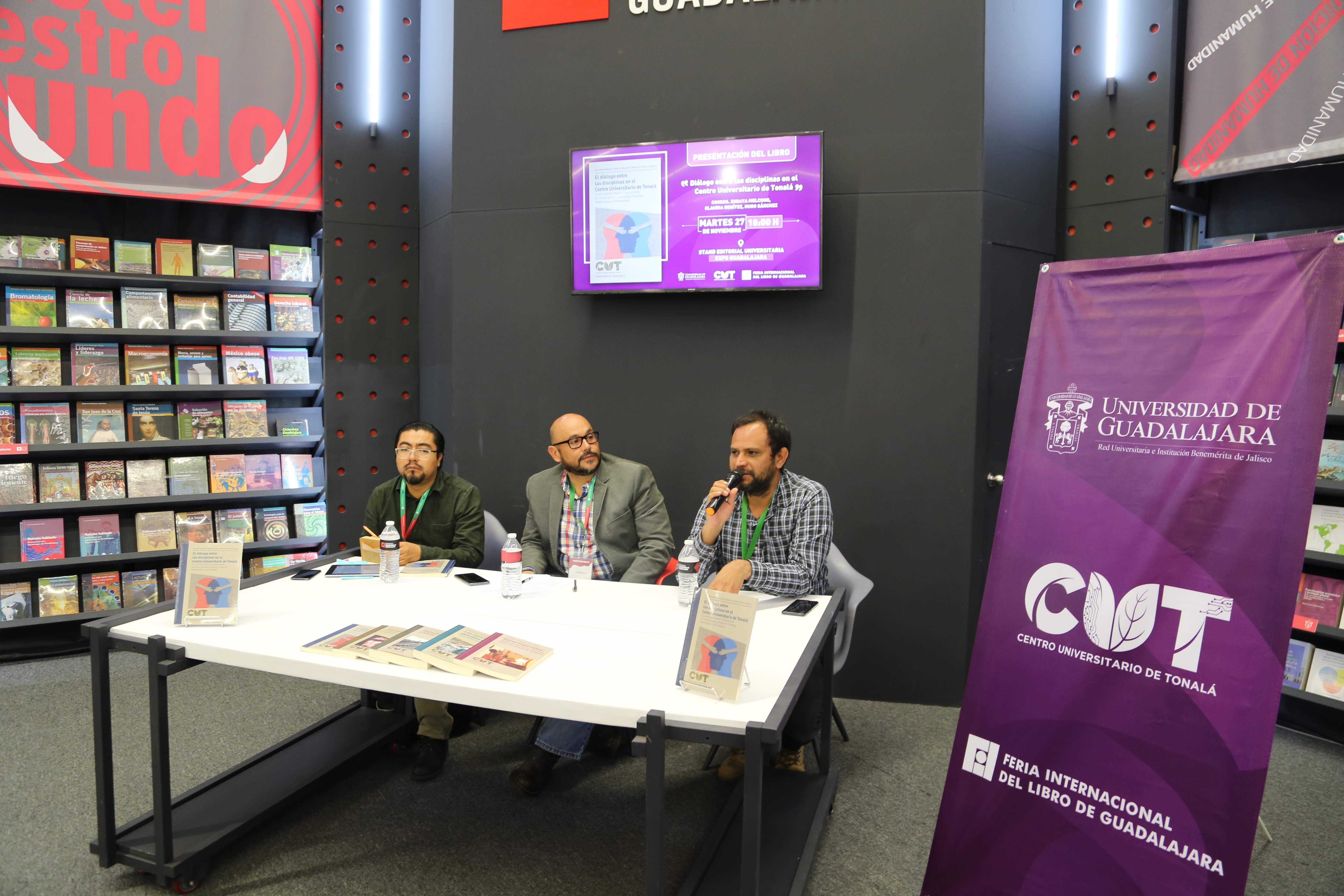 El Centro Universitario de Tonalá estuvo presente en la Feria del libro más importante de Iberoamérica.