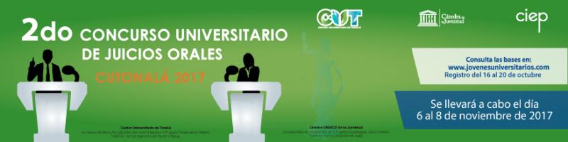 Bases para el Segundo oncurso de Juicios Orales en  www.jovenesuniversitarios.com