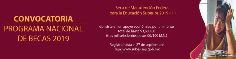 Becas de Manutención federal para la Educación Superior, registro hasta el 27 de septiembre