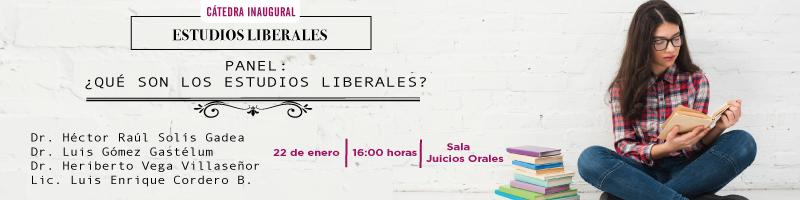 Cátedra Inaugural de Estudios Liberales el próximo 22 de enero a las 16:00 hrs.