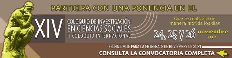 Participa con una ponencia en el Coloquio de investigación en Ciencias Sociales, fecha límite 09 de noviembre