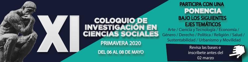 Participa con una ponencia en el XI Coloquio de investigación en Ciencias Sociales