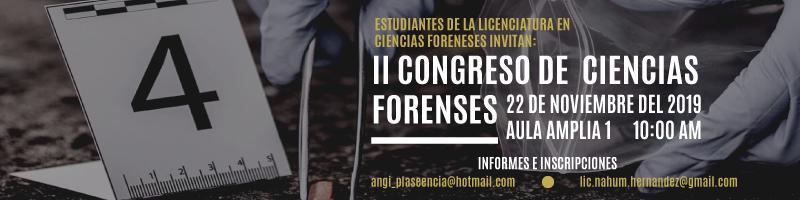 II Congreso de Ciencias Forenses el próximo 22 de noviembre