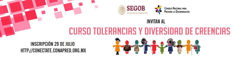 Curso Tolerancias y diversidad de creencias inscripción 29 de julio