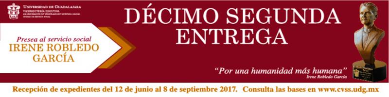 Convocatoria a la décimo segunda entrega de la presea Irene Robledo García