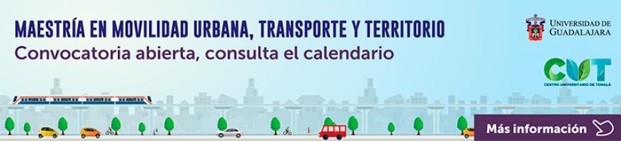 Enlace de información de la convocatoria de la Maestría en Movilidad Urbana, Transporte y Territorio