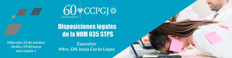 Asiste a la conferencia Disposiciones legales  de la NOM 035 STPS
