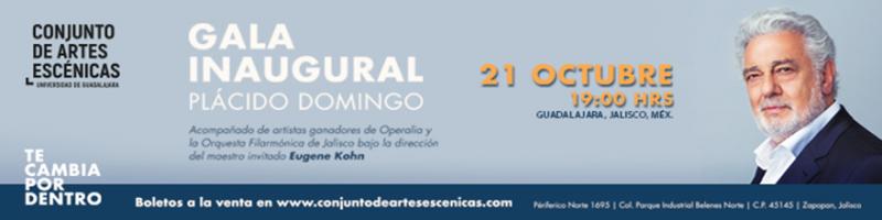 Gala inaugural Plácido Domingo 21 de octubre a las 19:00 horas