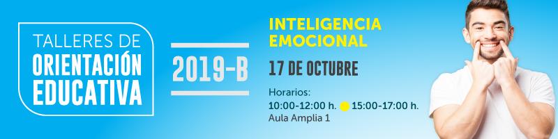 Taller de inteligencia emocional el proximo 17 de octubre a las 10:00 horas aula amplia 1