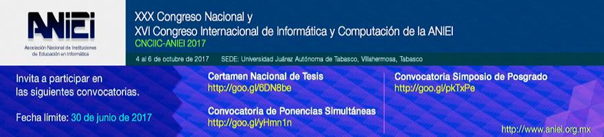 Enlace a Convocatorias para el 30 Congreso Nacional y 26 Congreso Internacional de Informática y Computación de la ANIEI