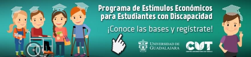 Programa de estímulos económicos para estudiantes con discapacidad, registro hasta el 21 de octubre