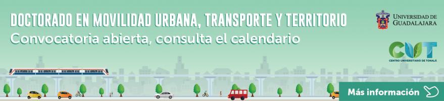 Convocatoria abierta para el Doctorado en Movilidad Urbana, Transporte y Territorio