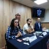 Investigadoras en rueda de prensa para dar a conocer los detalles del diplomado de desarrollo sustentable y derecho ambiental