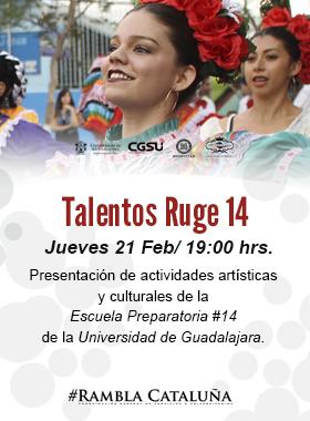 Presentación de actividades artísticas y culturales de la Escuela Preparatoria 14 de la Universidad de Guadalajara